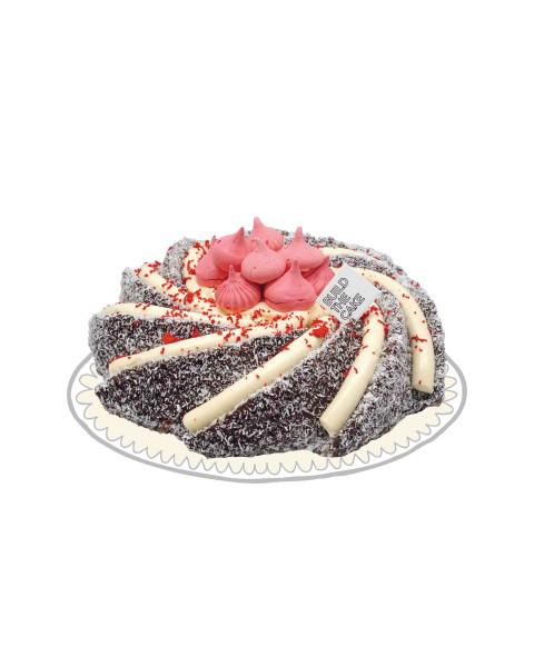 Lamington Volcano Cake