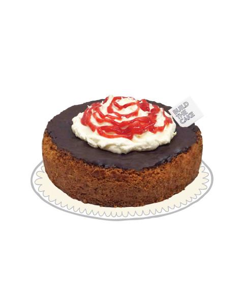 Strawberry Sundae Basque Chocolate Cake