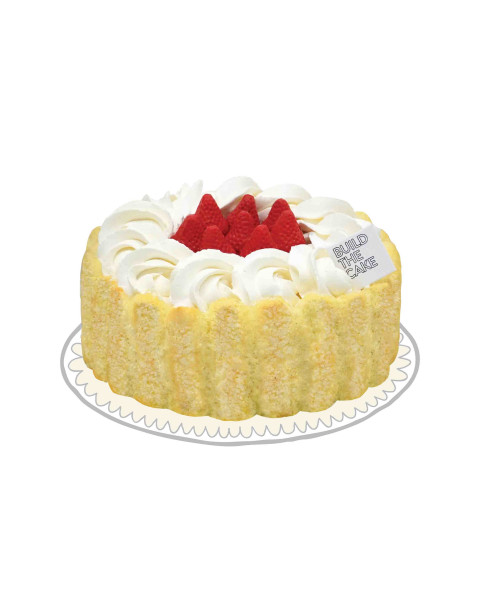 Milk Berry Cream Cake