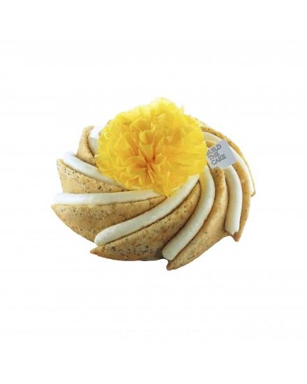 Lemon Poppy Seed Volcano  Cake