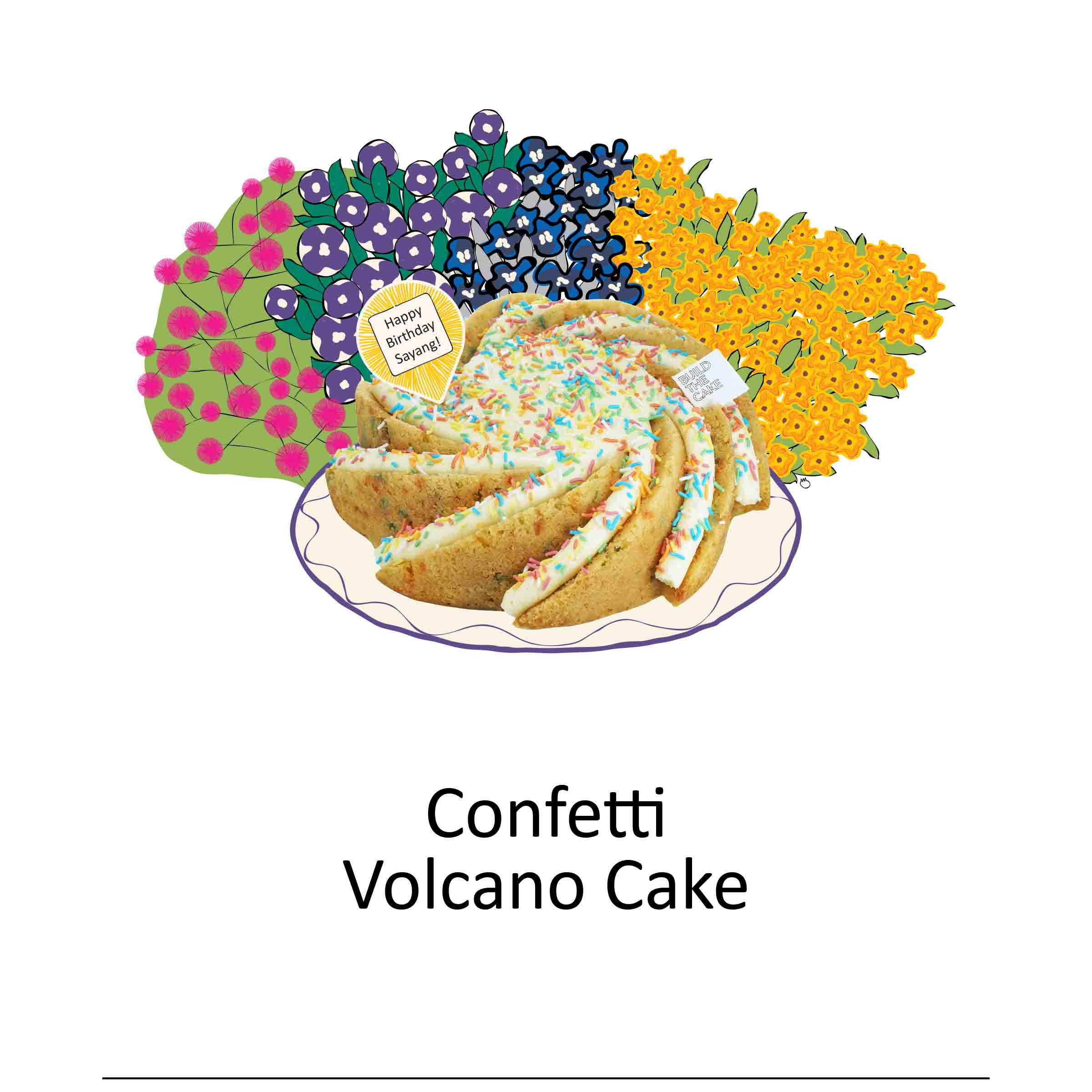 Confetti Volcano Cake