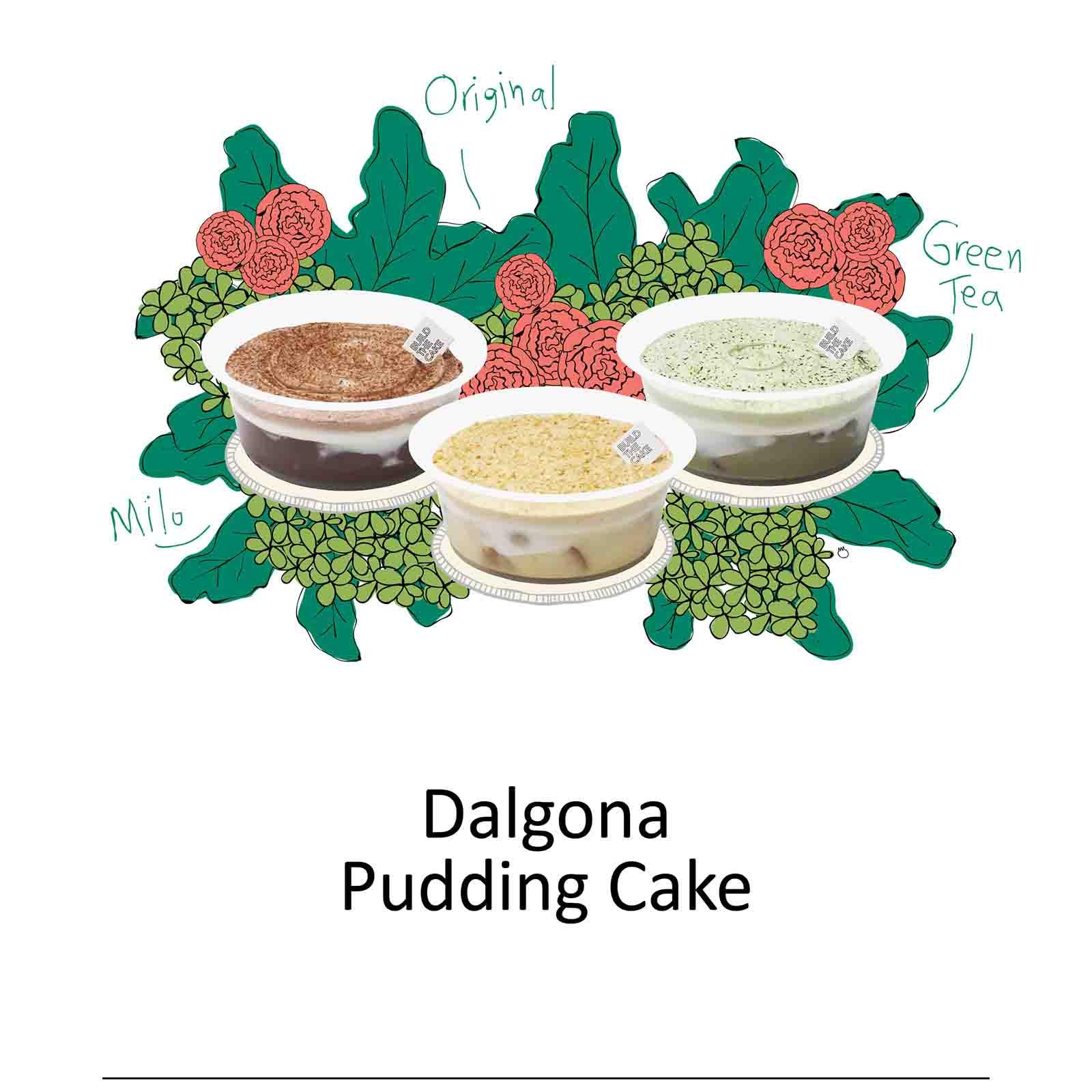Dalgona Pudding Cake