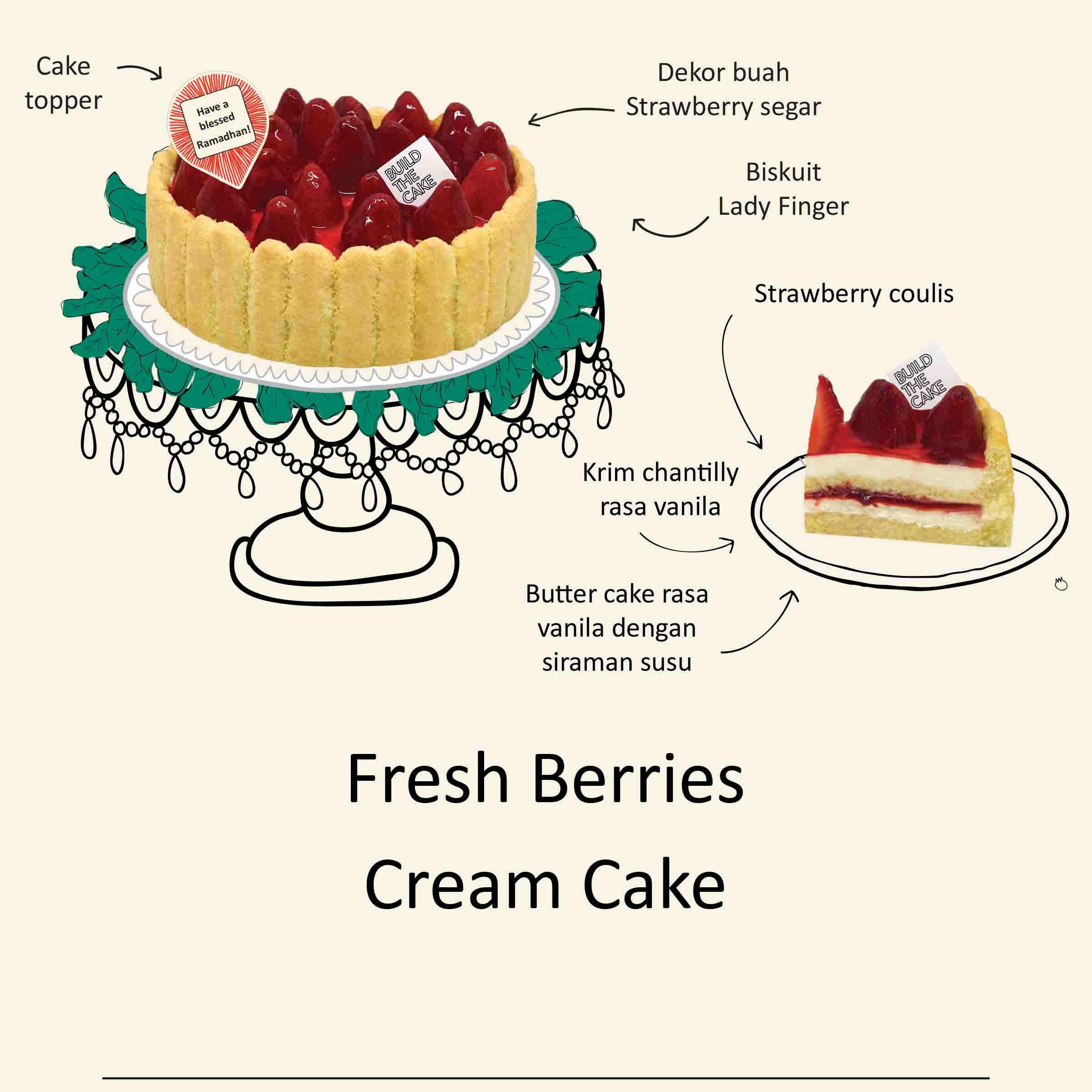 Ramadhan Early Bird Promo - Fresh Berries Cream Cake