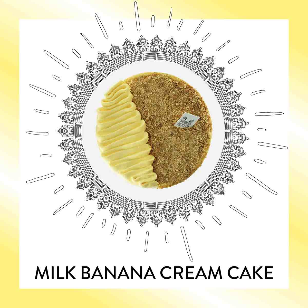 Milk Banana Cream Cake