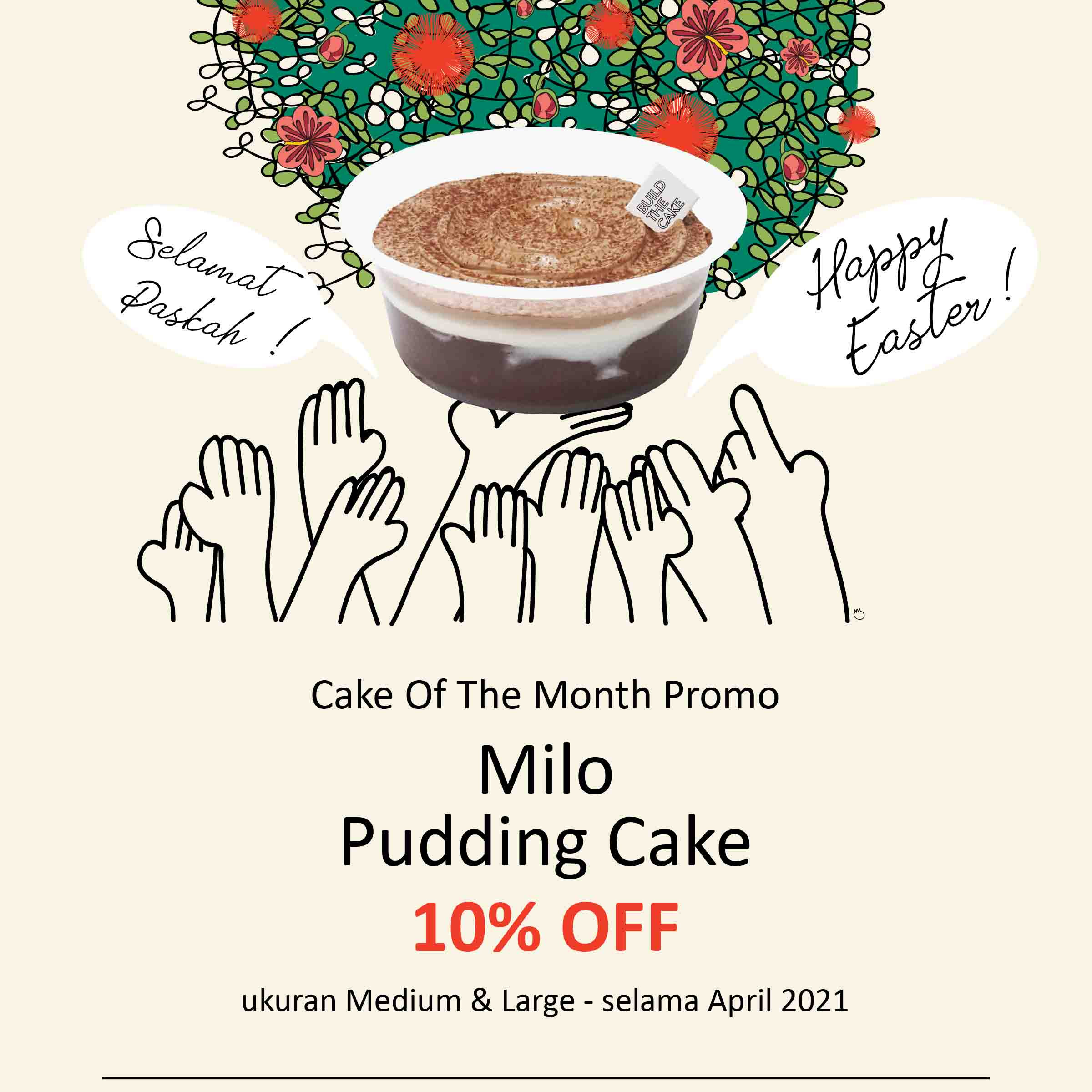 Milo Pudding Cake