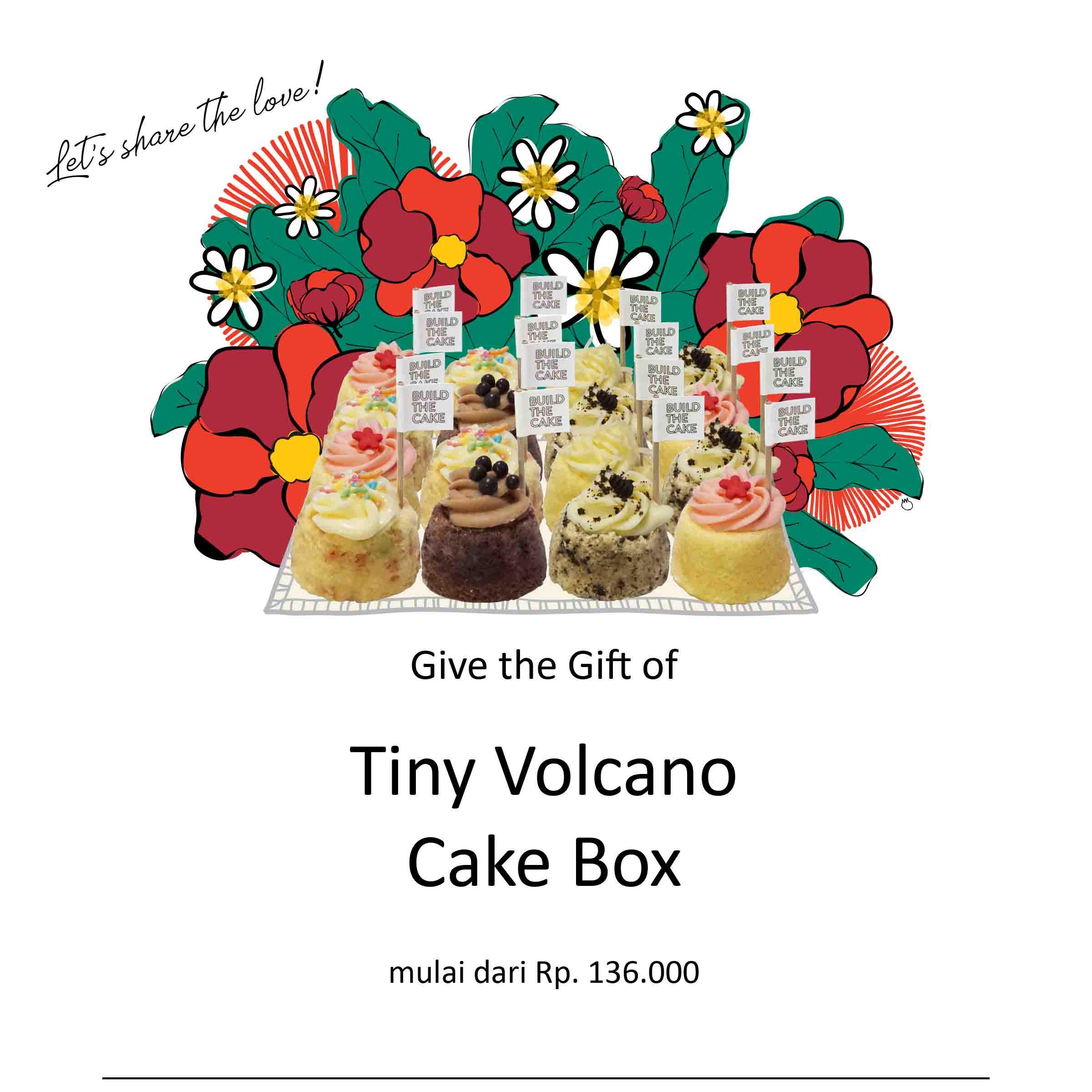 Tiny Volcano Cake