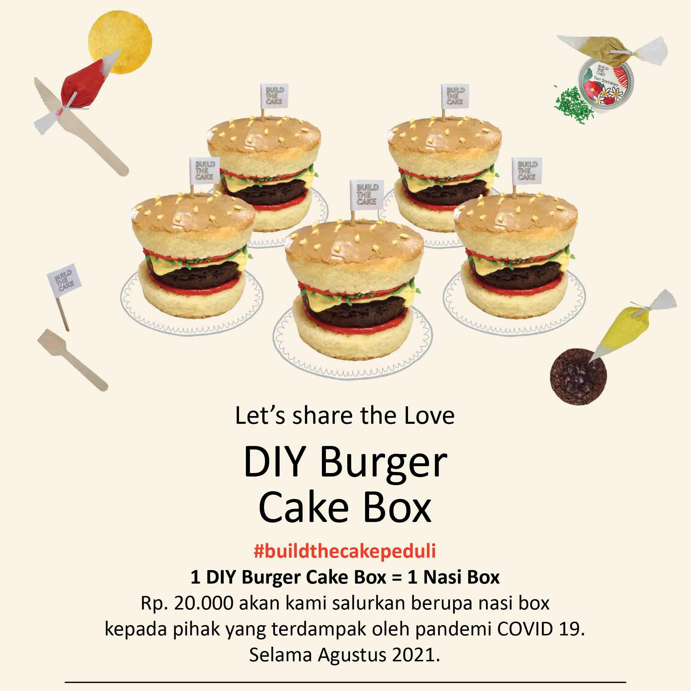 Burger Cake Box