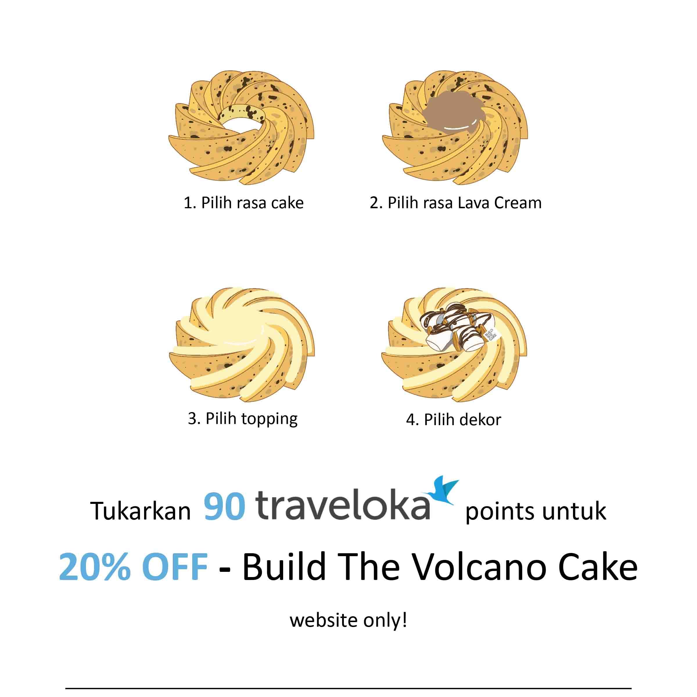 Build The Volcano Cake