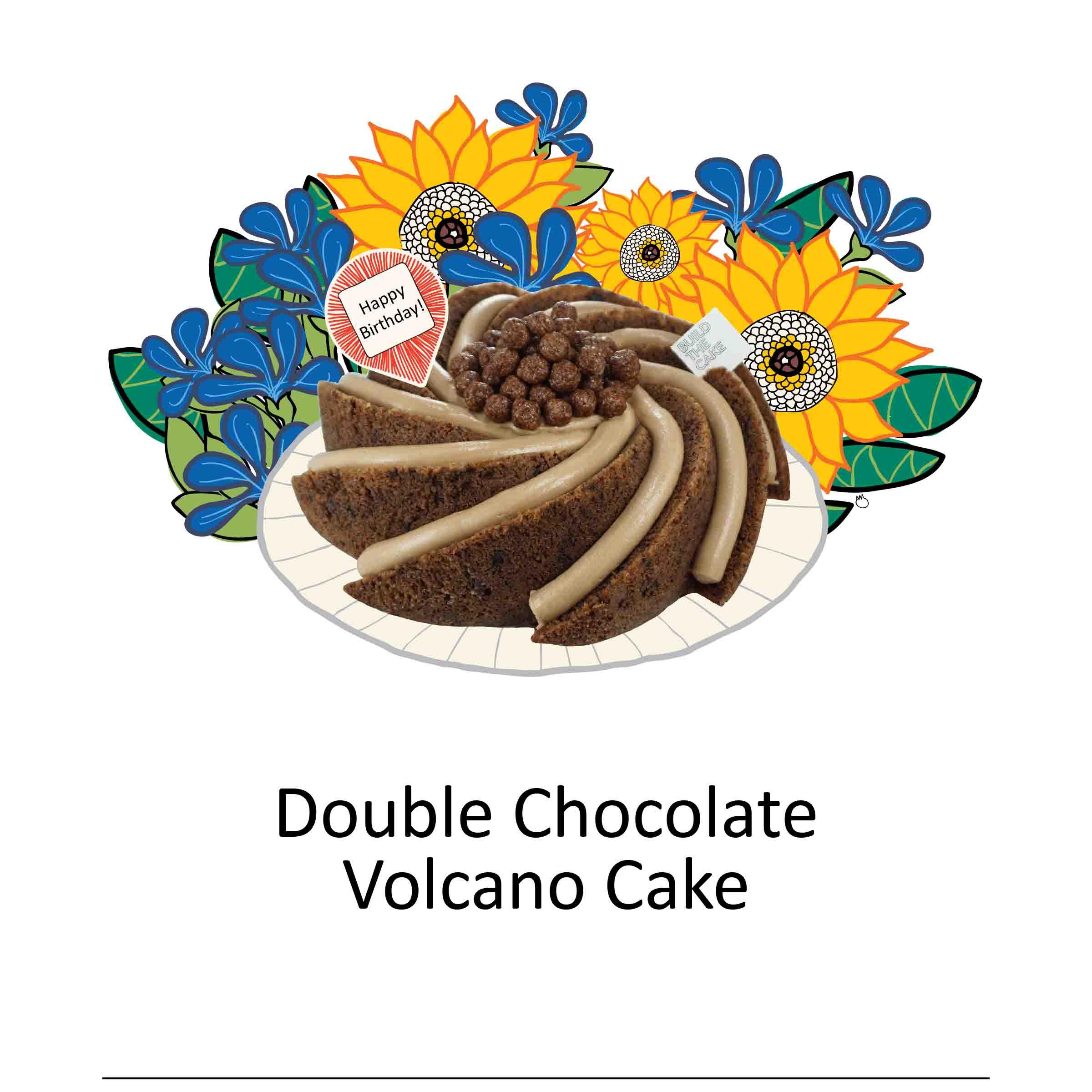 Double Chocolate Volcano Cake