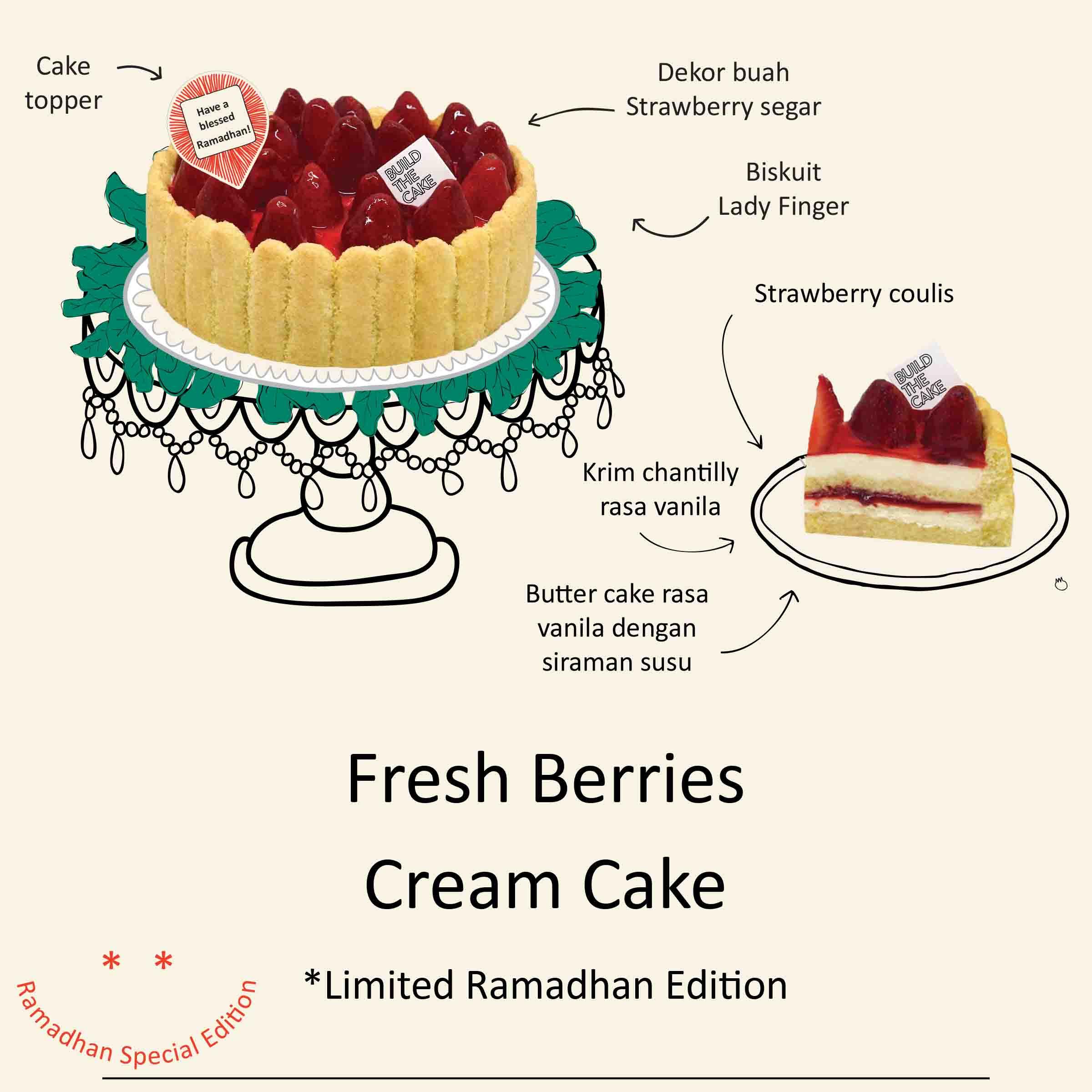 Fresh Berries Cream Cake